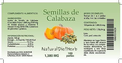 Aceite de Semillas de Calabaza 1000mg 100 perlas / Ayuda ...
