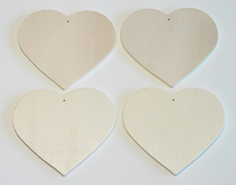 Andere Glorex Holzherzanh/änger Natur 11,5 x 16,4 x 2 cm