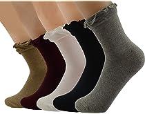 2ea3ca2b8 ... SYAYA Women Girls lacy cotton Lady s no show ruffle Retro Ankle frilly  Socks Five Colors WWZ24. This item AM Landen ...