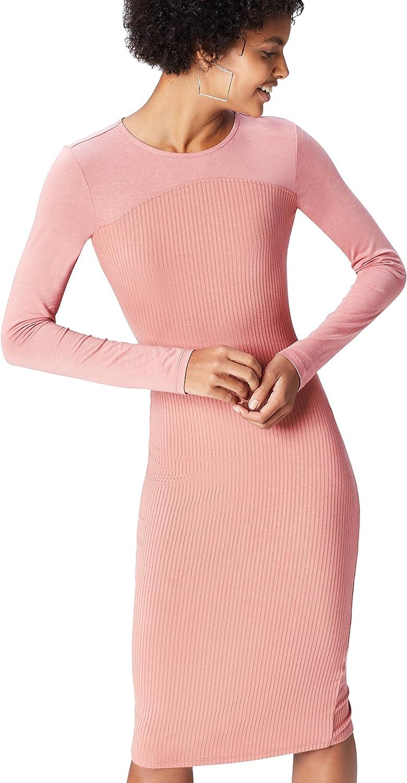TALLA 42 (Talla del Fabricante: Large). Marca Amazon - find. Vestido Recto para Mujer Rosa 42 (Talla del fabricante: Large)