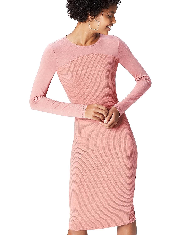 TALLA 44 (Talla del Fabricante: X-Large). Marca Amazon - find. Vestido Recto para Mujer Rosa 44 (Talla del fabricante: X-Large)