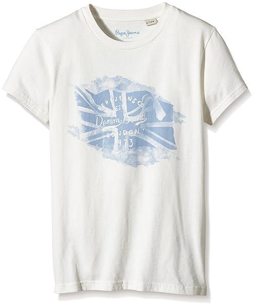 Pepe Jeans TELMO, Camiseta para Niños, Blanco (Off White), 4 años