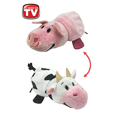 """Flip A Zoo 5"""" 2-in-1 Flippable Ruby Piglet/Sofie Cow Plush Toy: Home & Kitchen"""