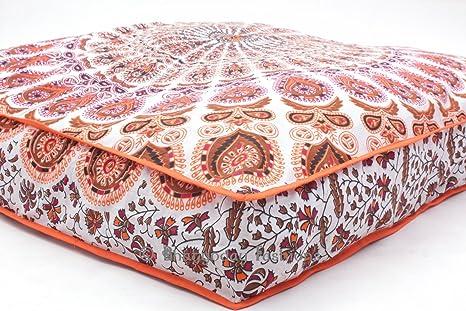 Exclusive Indian diseño de Mandala de plumas de cuadrado ...