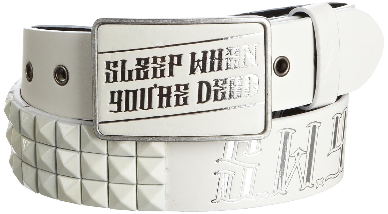 Lowlife Swyd Stash Leather Belt Small White