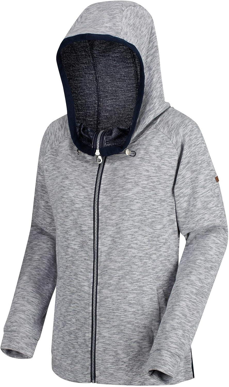 Regatta Damen Ramira Full Zip Drawcord Hooded Marl Fleece