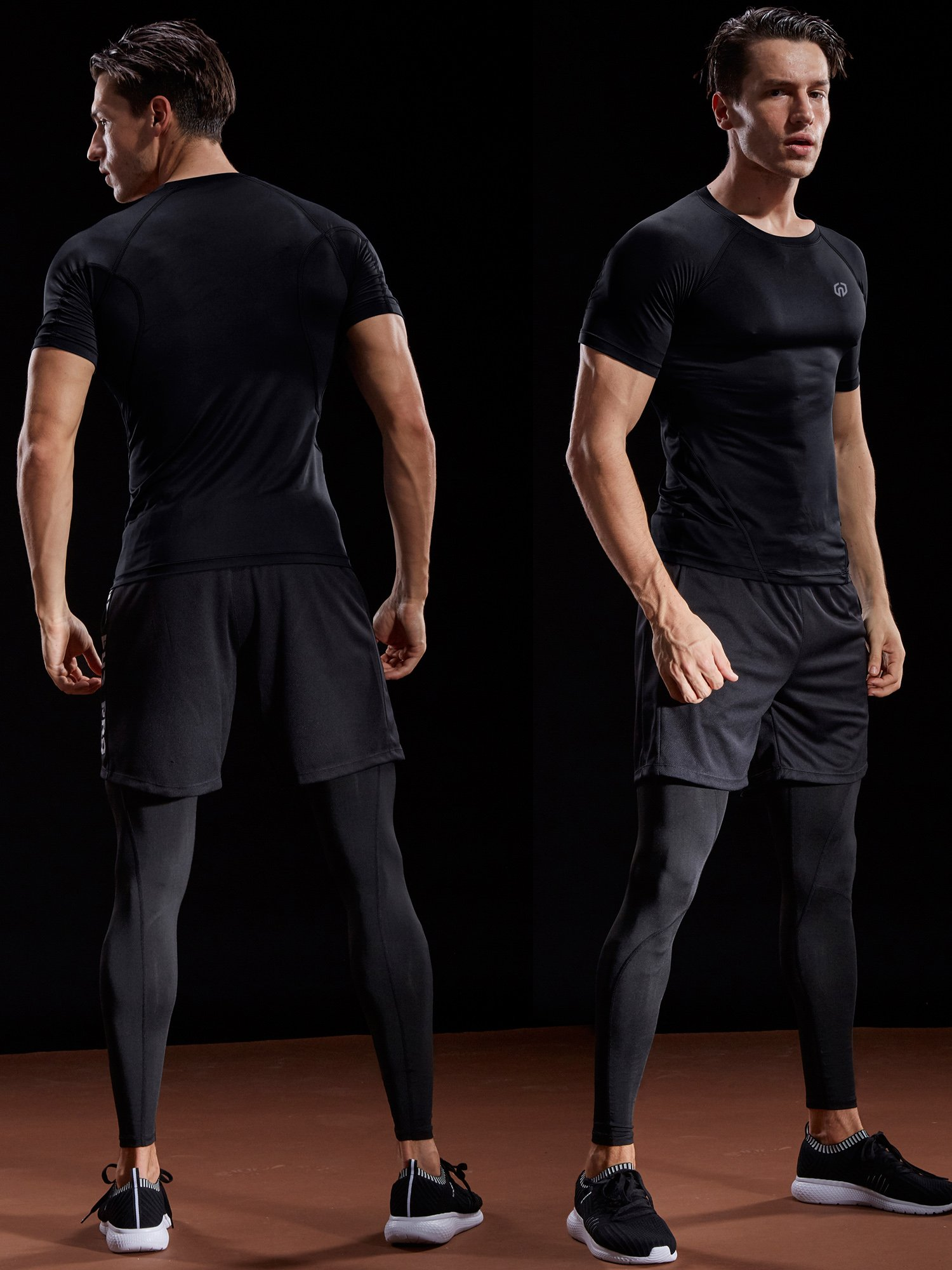 Neleus Men's 3 Pack Compression Baselayer Athletic Workout T Shirts,5022,Black,Grey,White,US S,EU M by Neleus (Image #2)