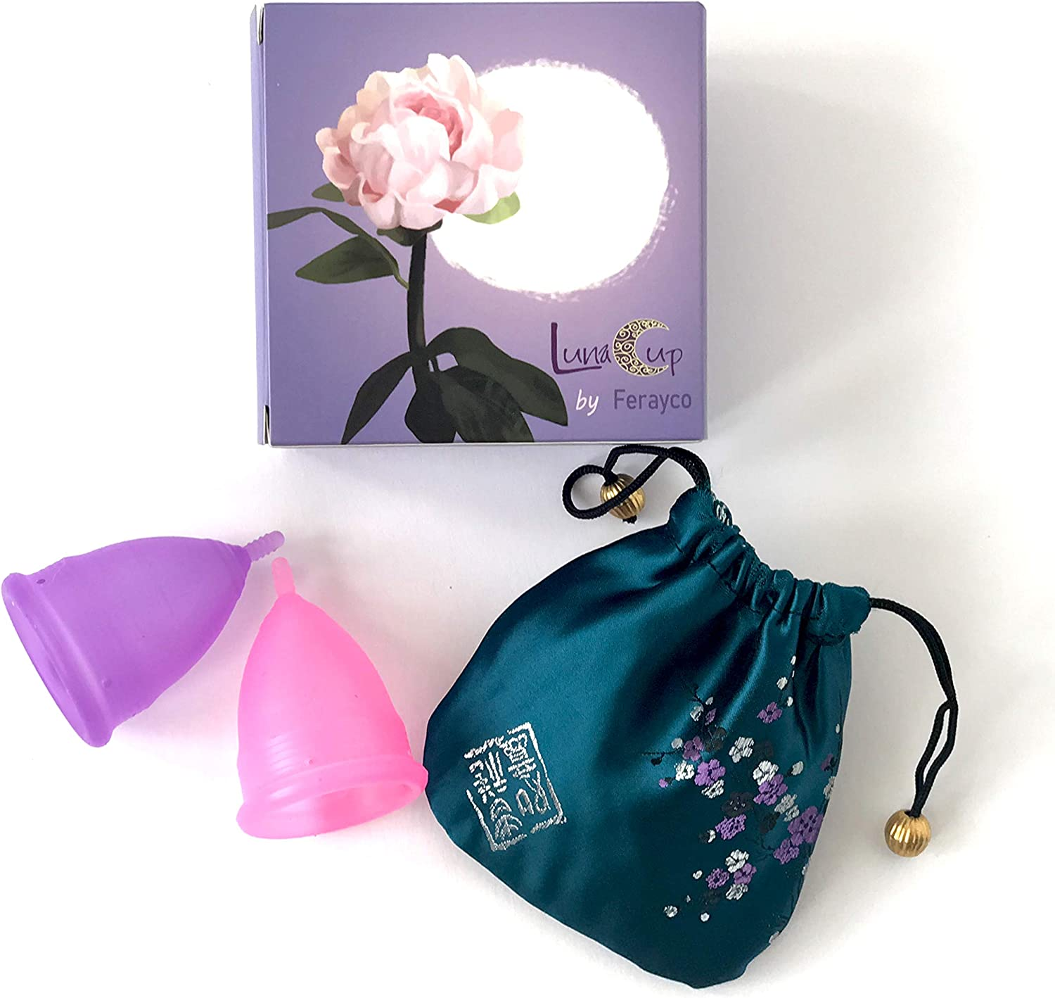 Luna Cup Menstrual Cups 2 Small Period Cups and 1 Silky Bag (2 Small Cups)