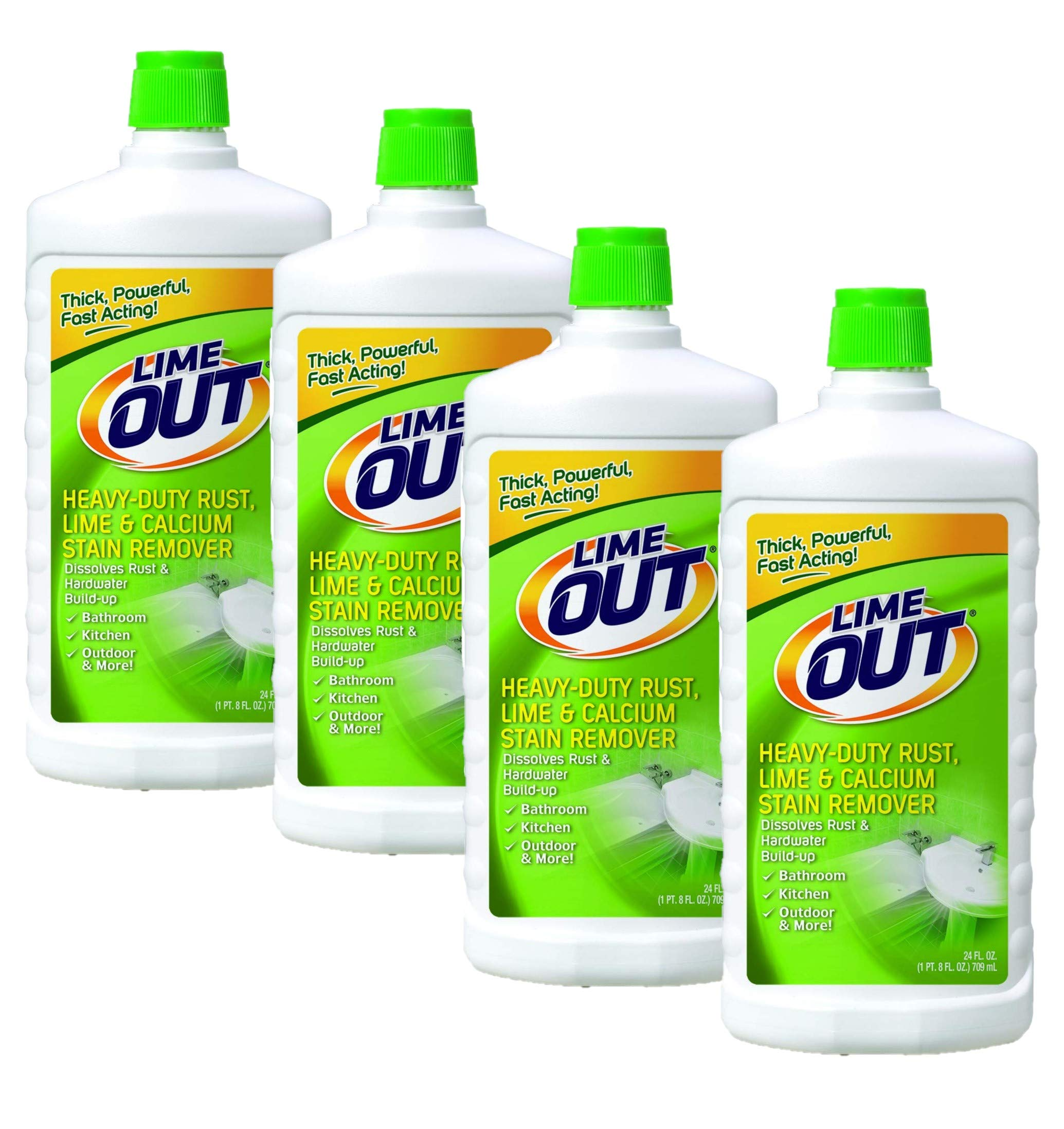 Lime Out Heavy-Duty Rust, Lime & Calcium Stain Remover, 24 Fl. Oz. Bottle, Pack of 4 by Summit Brands