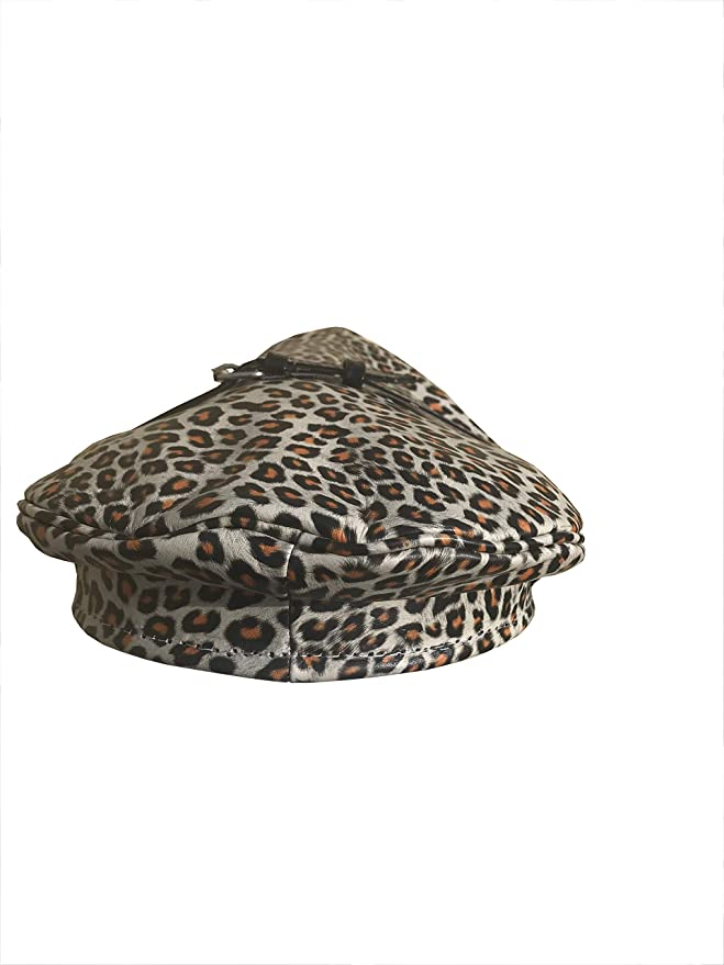 Muir,Biker,Gay XS  to  XL Cap Camouflage print  Real Cowhide Leather  Size