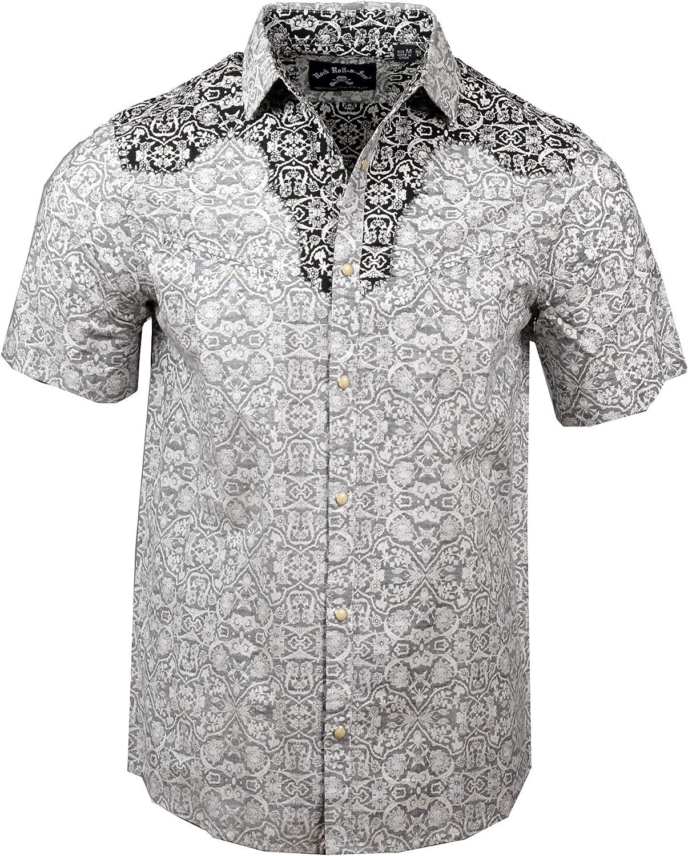 Mens Short Sleeve Falling in Reverse Button Down Western Shirt 219SSB