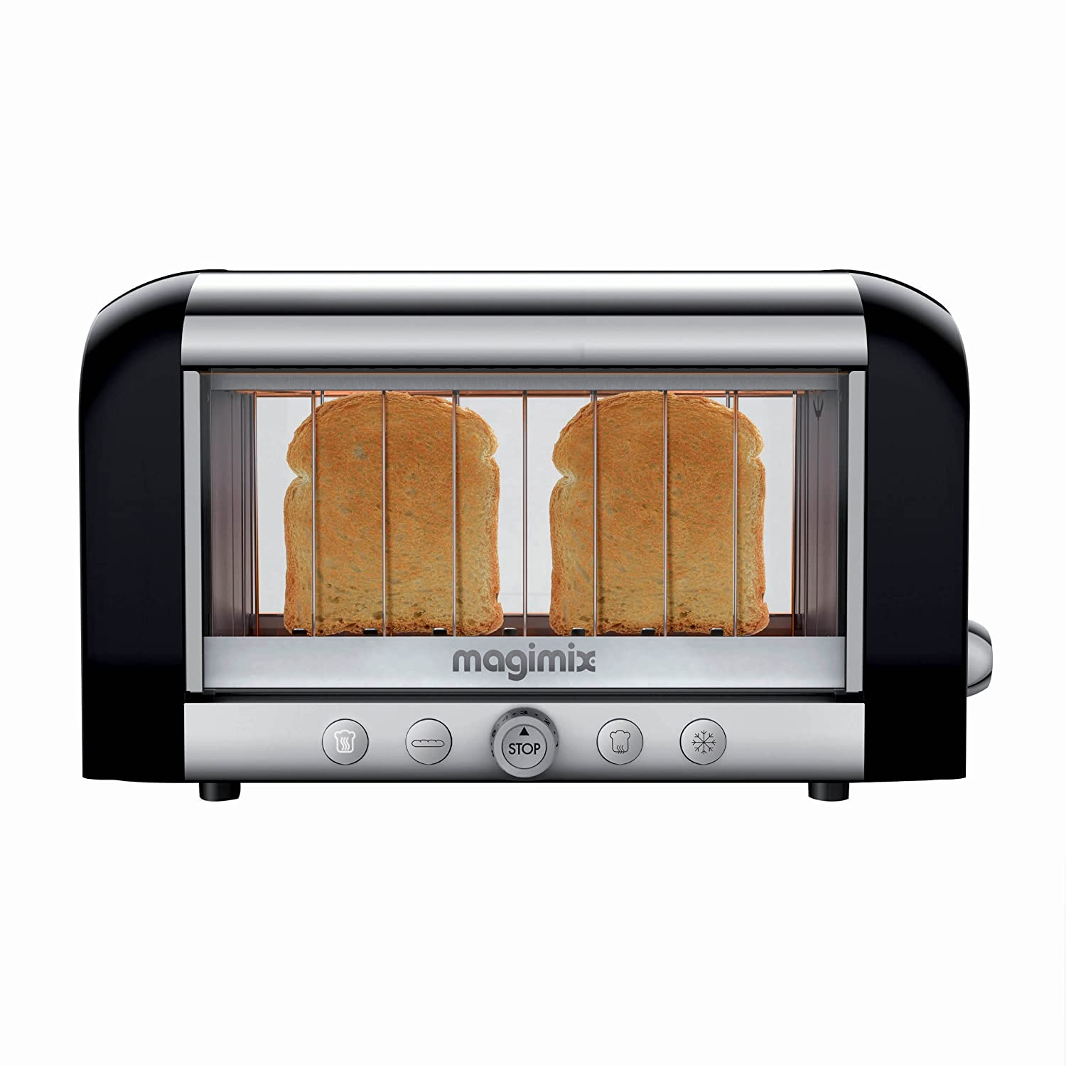 Magimix Vision Toaster (Black) - 11529LC See Through Panel