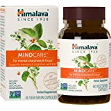 Himalaya MindCare/Mentat with Bacopa and Gotu Kola for Brain and Mental Alertness 60 Capsules, 1170 mg