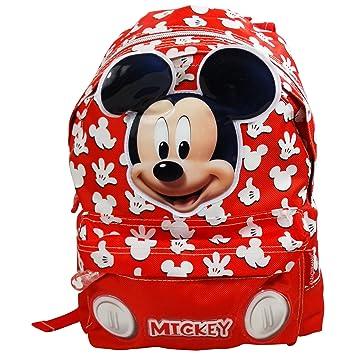 Disney Mickey Mouse Funny Mochila Bolso Escolar Guarderia Tiempo Libre Ninos: Amazon.es: Equipaje