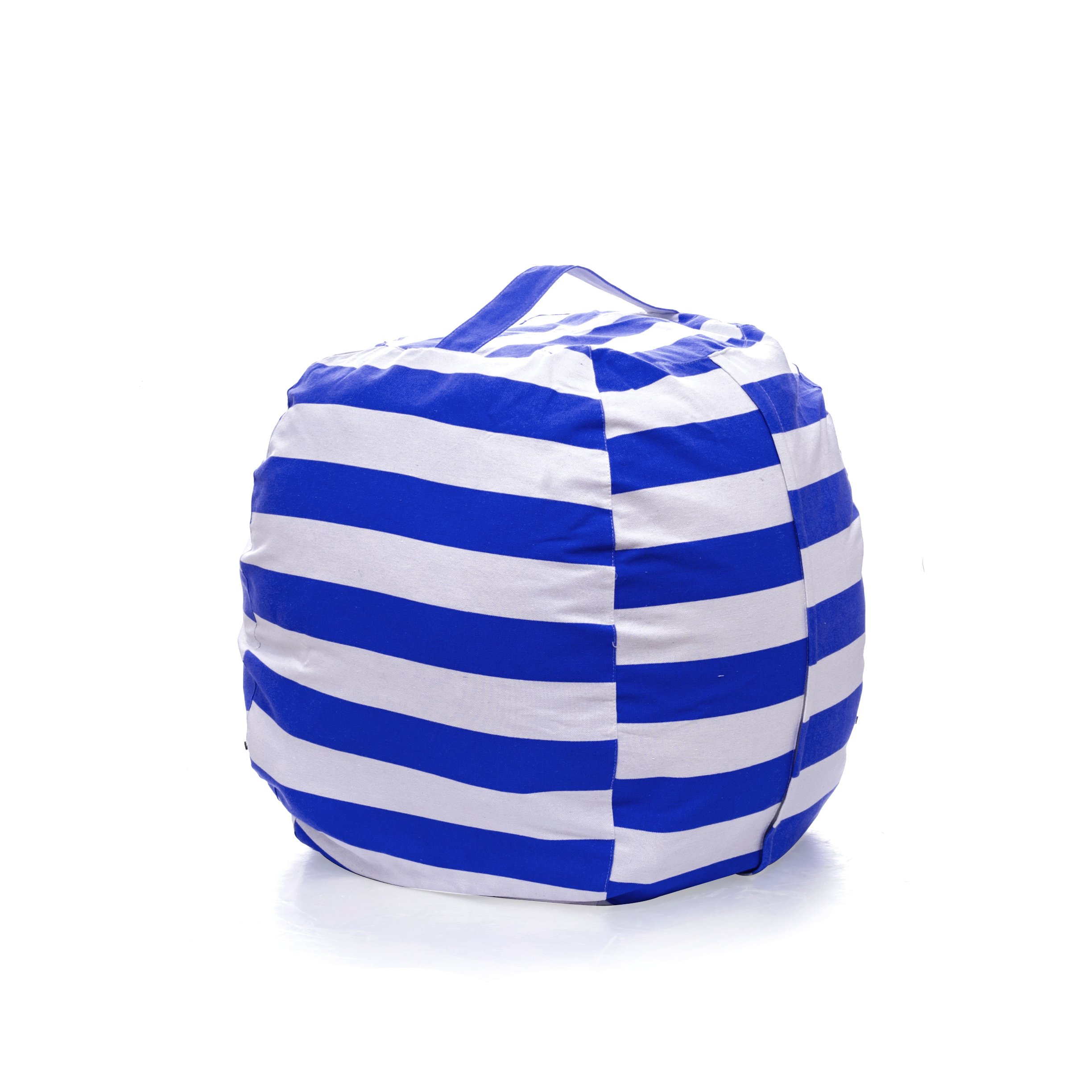 PJS-MAX Storage Bean Bag Chair for Kids - Stuffed Animal Chair Storage Bag, Jumbo Size Perfect for Soft Toys, Clothes, Blankets. 5 Colors Available (Navy Blue, Extra-large)