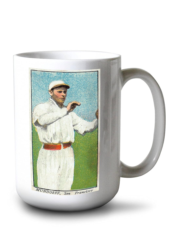 San Francisco Pacific Coast League – Mundorff – 野球カード 15oz Mug LANT-3P-15OZ-WHT-23553 15oz Mug  B077RYW92J