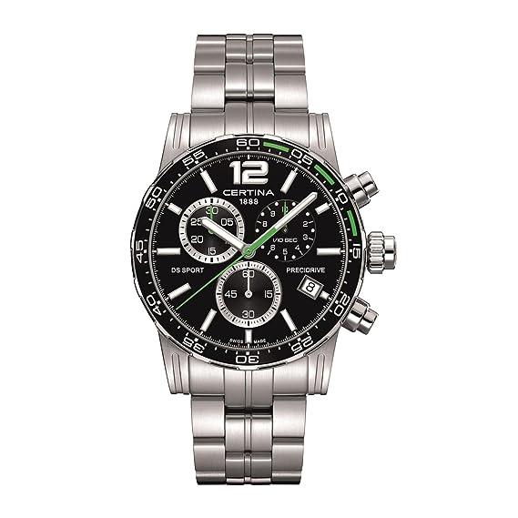 CERTINA DS SPORT RELOJ DE HOMBRE CUARZO CORREA DE ACERO C027.417.11.057.01: Amazon.es: Relojes