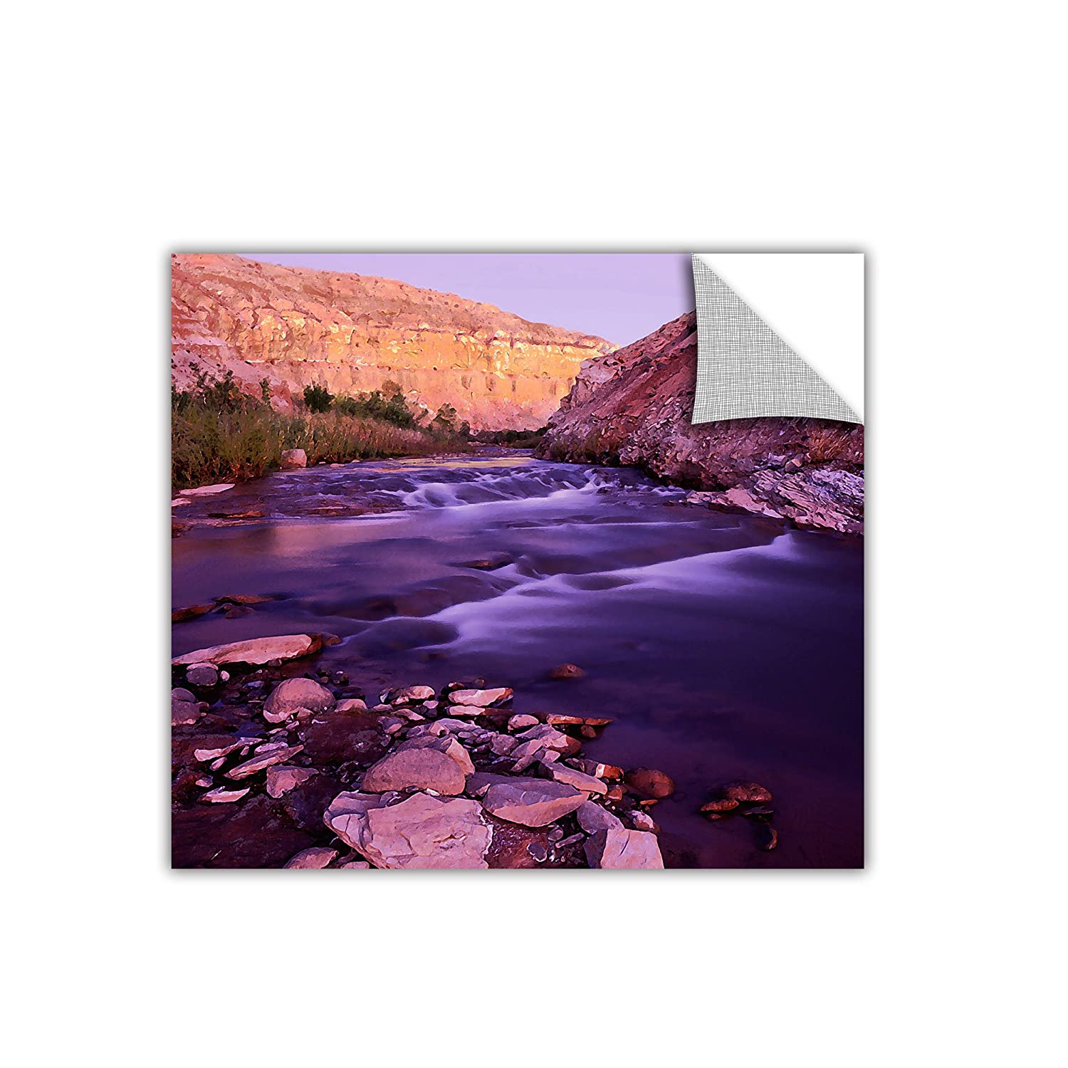 ArtWall Appealz Dean Uhlinger Fremont River Dawn Removable Wall Graphic 24 by 24-Inch