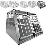 LovPet® Alu Hundebox Alubox Hundetransportbox ? Transportbox ? Reisebox ? Haustiere | Stabil | Größe: M - XXL | Farbe: Grau / Silber