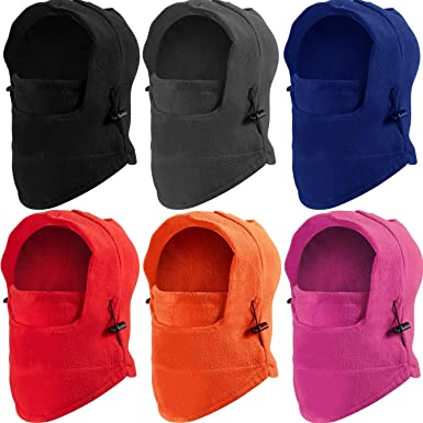 Kids Windproof Hat Double Layer Fleece Ski Mask Warm Face Cover