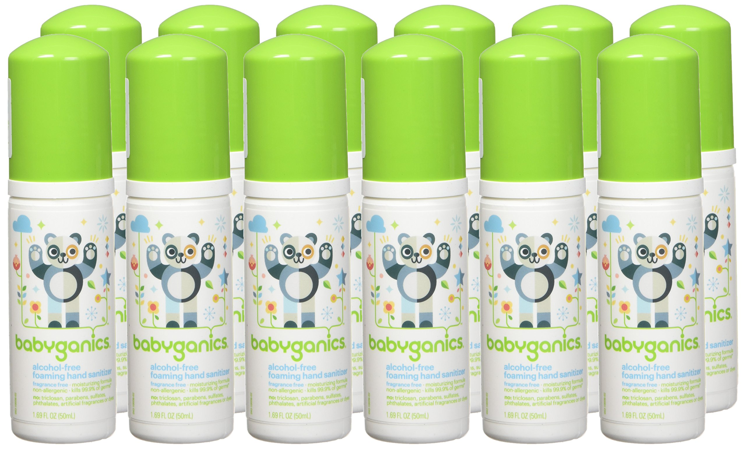 Babyganics Alcohol-Free Foaming Hand Sanitizer, Fragrance Free, On-The-Go, 50 ml (1.69-Ounce), Pump Bottle (Pack of 6) by Babyganics (Image #3)