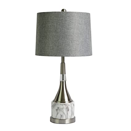 Cory Martin W 1564 Contemporary Genie Bottle Metal And Faux Marble Table  Lamp, 26u0026quot