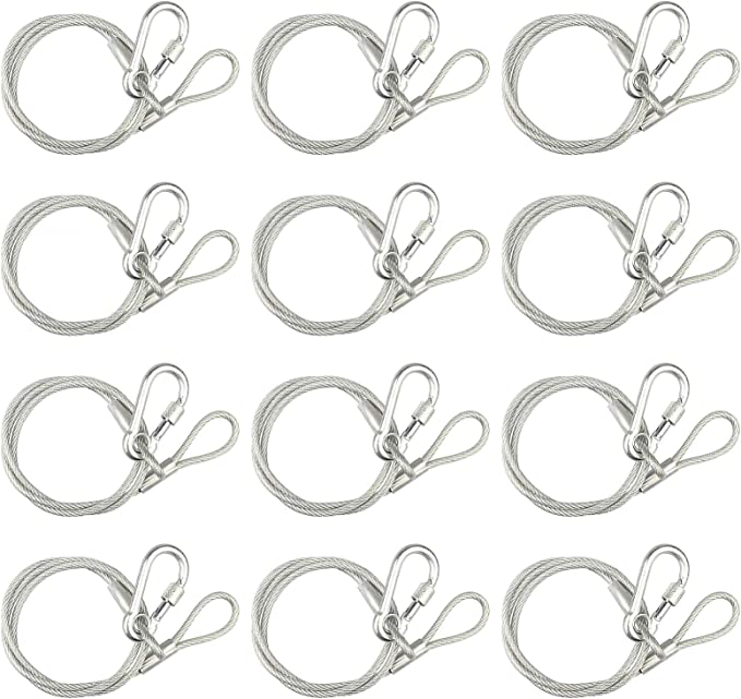 25 inch Stainless Steel Safety Rope for Heavy DJ Stage light Safety Cable NEW