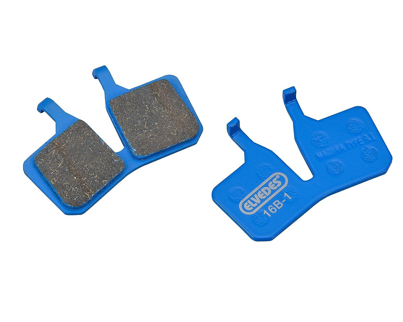 ELVEDES 1par Organic Set de pastillas de frenos velo/montaña/E-Bike/Ruta para Magura MT5/7unisex, Azul ELVEM|#ELVEDES 6902
