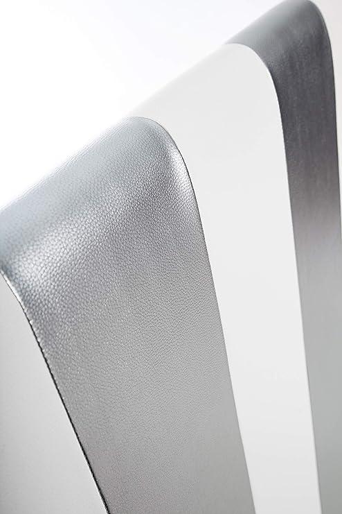 SUENOSZZZ - Cabecero Ohio Líneas Verticales (Cama150) 160x57 cms. Color Blanco y Plata: Amazon.es: Hogar