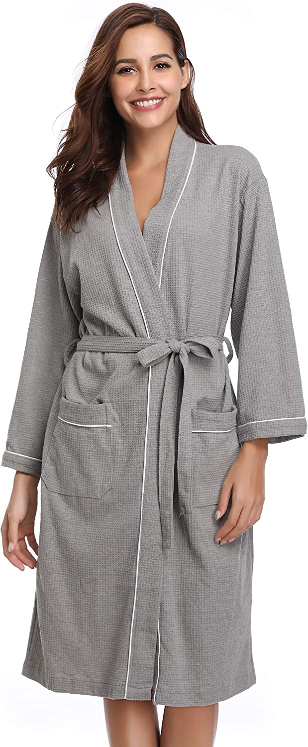 Bride Waffle Weave One Size Robe Personalized Waffle Weave Robe Monogrammed Robe Front Tie Kimono Getting Ready Bridesmaid Gift