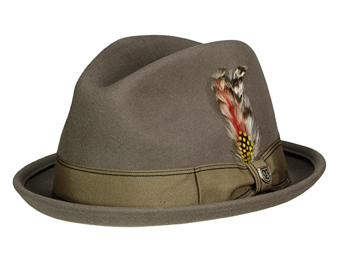 bc145c1ebea Brixton Men Player Hat Gain Fedora - Grey - XL  Amazon.co.uk  Clothing