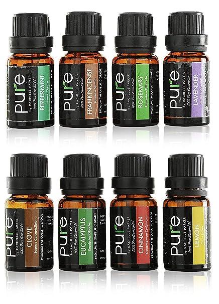 Amazon Com Essential Oils Set Aromatherapy Kit 8 Top Essential Oil