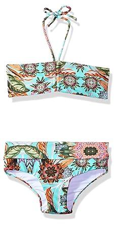 b6b8727708e2d Amazon.com: OndadeMar Girls Amazonia Bandeau Bikini Set: Clothing