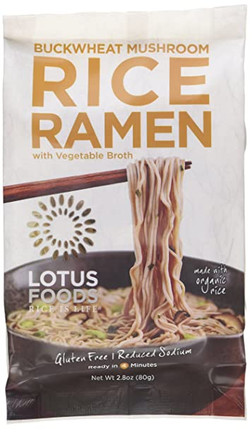 Lotus Foods Buckwheat Mushroom Brown Rice Ramen With Vegetable Soup 10 Count