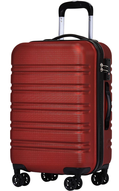 [luckypanda(ラッキーパンダ)] TSAロック搭載 スーツケース TY8098 機内持ち込み可 B0756XPFMQ L|ワインレッド ワインレッド L