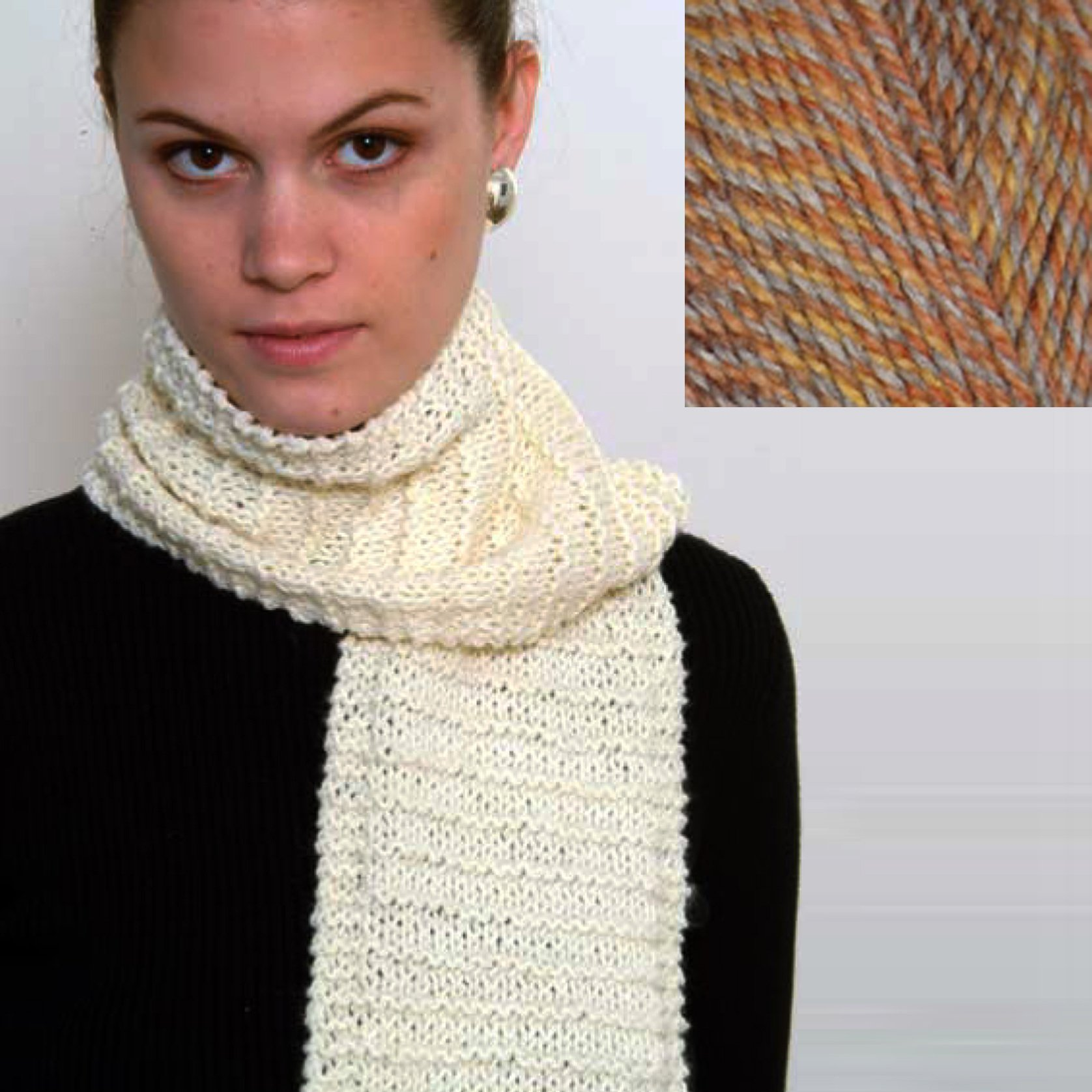 ''Beginner's Scarf'' Knit Kit with Encore Worsted COLORSPUN Yarn - COPPER DRIFT