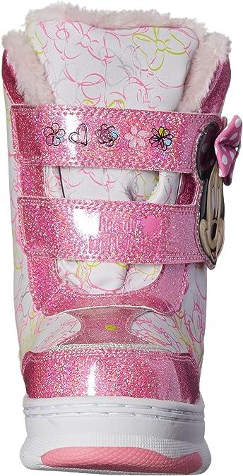 Josmo Character Shoes Kids Disney Minnie C//W Boot-K White//Pink 12 M US Little Kid Disney Minnie C//W Boot K