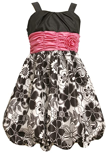 Amazon.com: Bonnie Jean Big Girls Plus Black White Shirred ...