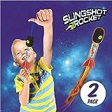 2 Pack Light Up Foam Finger Rockets, Slingshot