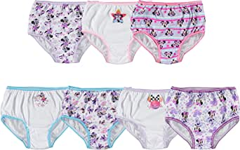 Disney Little Girls' Minnie Seven-Pack of Brief Underwear