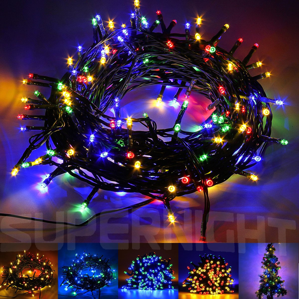 Amazon.com: SUPERNIGHT DC 24V 200 LED Decorative Christmas Lights ...