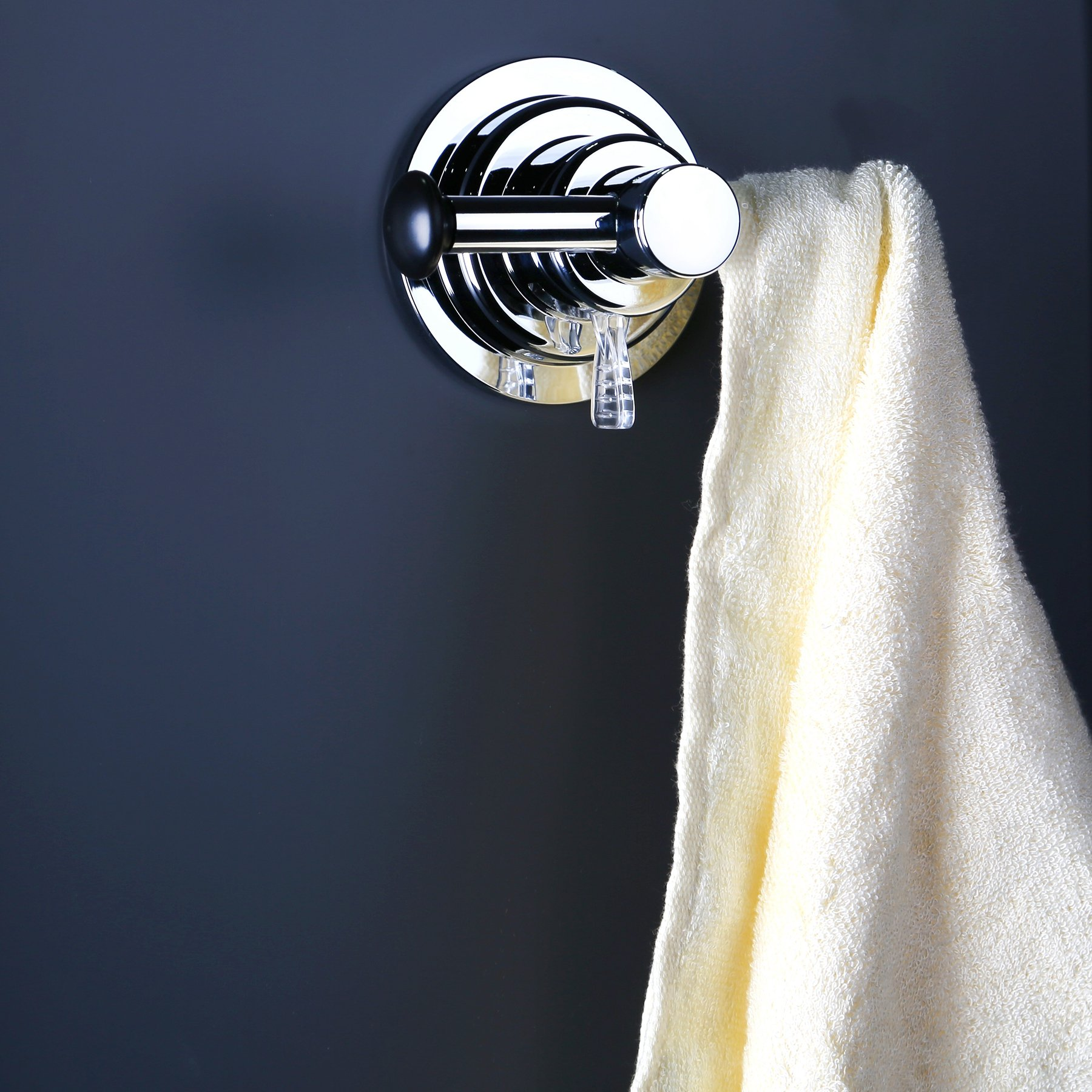 BOPai Large Suction Cup Sided Hooks - Strong Suction for Holder Towel Bathrobe Washrag Loofah Bag.Premium Chrome by BOPai (Image #2)
