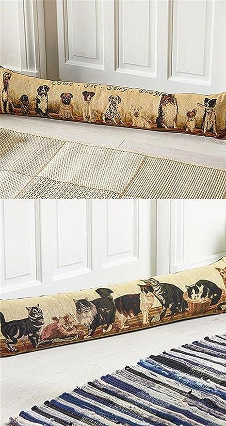 Burlete, diseño de gato o perro patrón puerta ventana cojín ...