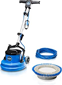Prolux Core Heavy Duty Single Pad Commercial Polisher Floor Buffer Machine Scrubber (15 Inch Commercial Duty w/Hard Brush Only)