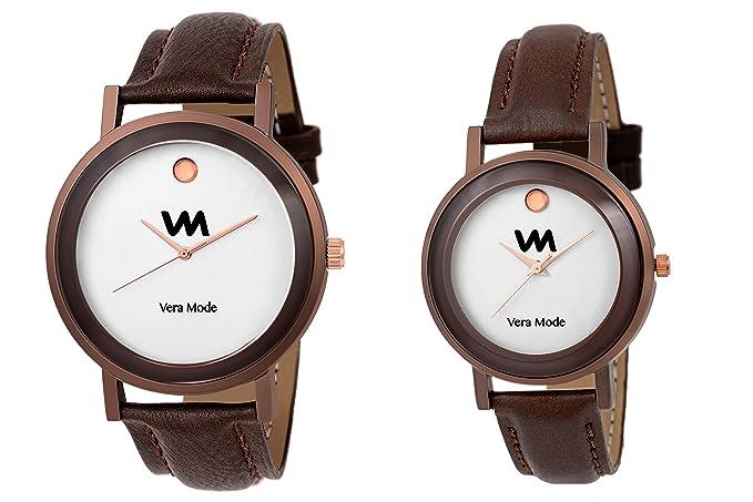 Unisex Couple Collection Quartz Analogue White Movado Dial Watches_VM1503C