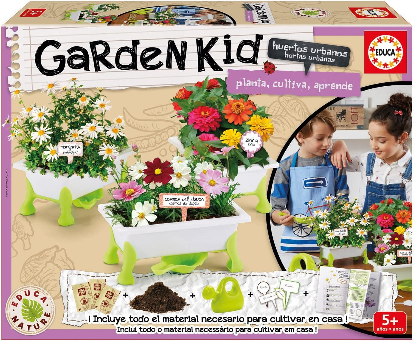 Educa Borrás- Garden Kid, 2 Puzzles (17313): Amazon.es: Juguetes y ...