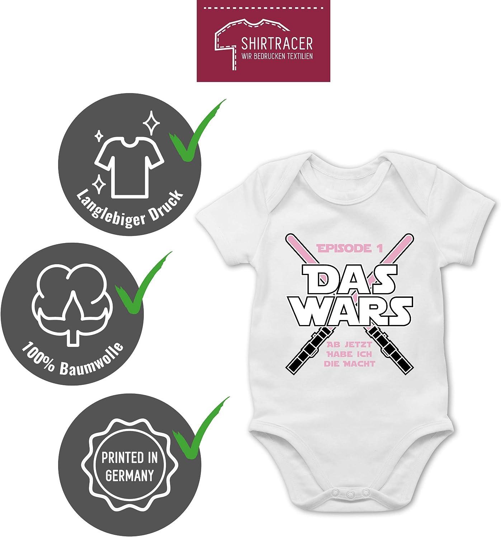 Das Wars Jetzt Habe ich die Macht M/ädchen Zur Geburt Shirtracer Kurzarm Baby-Shirt f/ür Jungen und M/ädchen