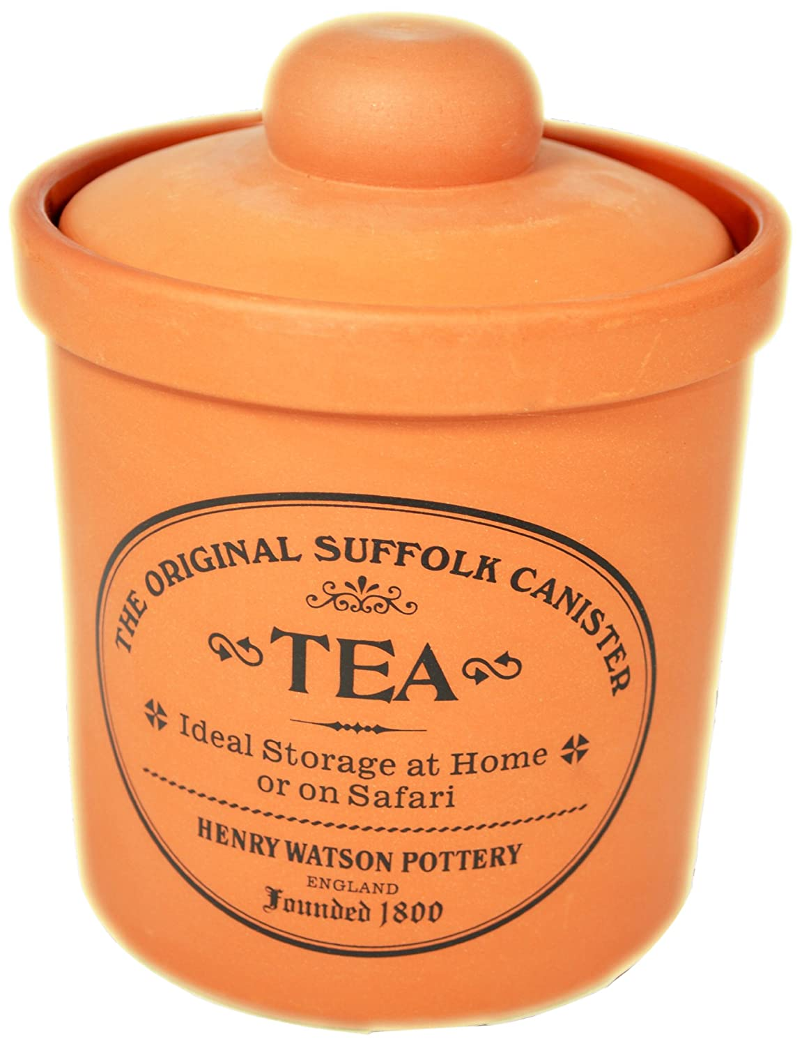Airtight Tea Canister in Terracotta by Henry Watson, Made in England 125