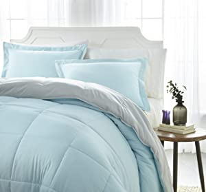 ienjoy Home Collection Down Alternative Reversible Comforter Set - Queen - Aqua