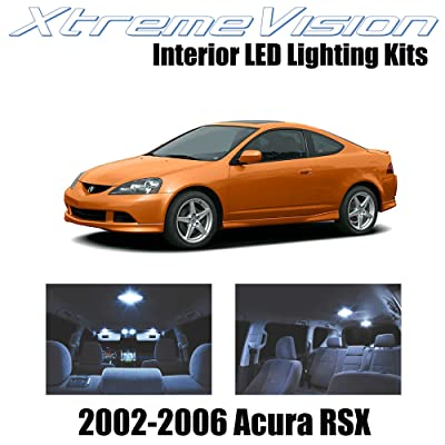 XtremeVision Interior LED for Acura RSX 2002-2006 (10 Pieces) Cool White Interior LED Kit + Installation Tool: Automotive